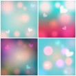Set of glittering Valentine's Day backgrounds — Stock Vector #39231987