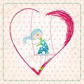 Cute Valentine's Day card — Stock vektor