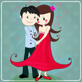 Cute couple in love — Stock Vector