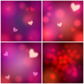 Set of glittering Valentine's Day backgrounds — Vetorial Stock