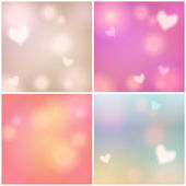 Set of glittering Valentine's Day backgrounds — ストックベクタ