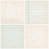 Set of 4 retro, vintage paper backgrounds — Stock Vector