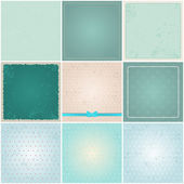 Set of 9 retro, vintage backgrounds — Stock Vector