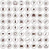 Large set of web icons — Stock Vector