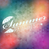 Blurred hipster summer background — Stock Vector
