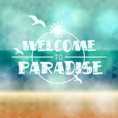 Summer background with triangles and text — Vecteur