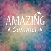 Summer background with triangles and text — Stockvektor