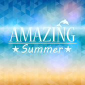 Summer background with triangles and text — Stock Vector