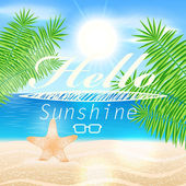 Summer background with text — Stock Vector