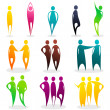 Set of colored abstract silhouettes — Stock Vector #7091423