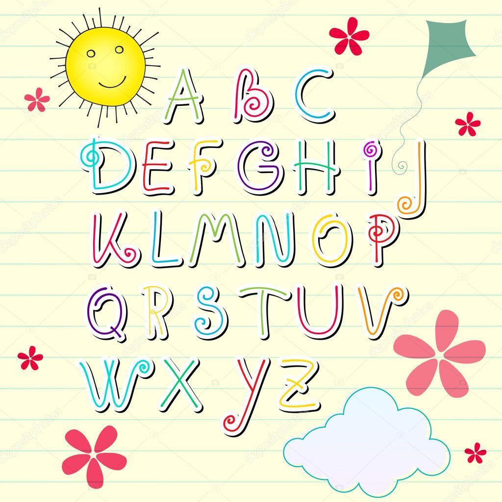 Cute Alphabet Letters   Car Interior Design Cute Alphabets