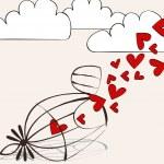 Cute romantic illustration — Stock Vector #8425927