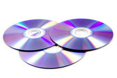 Stack of cd roms. CD & DVD disk on white background — Stock Photo