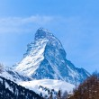 Matterhorn mountain of zermatt switzerland. Winter in swiss alps — Stock Photo #19144547