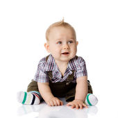 Baby boy isolated — Stock Photo