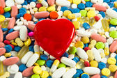 Background made of colorful pills. — Stock Photo