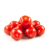 Cherry tomatoes. fresh tomatoes on white background. red tomato — Stock Photo