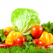 Stock Photo: Healthy Eating. Seasonal organic raw vegetables.