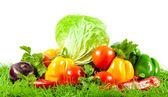 Sunda matvanor. säsongens ekologiska råa grönsaker. — Stockfoto