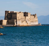 Castel dell'Ovo. Castel dell Ovo, middle aged fortress in the B — Stock Photo