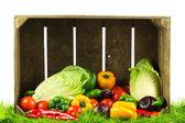 Sağlıklı beslenme. mevsim organik çiğ sebzeleri. — Stok fotoğraf
