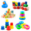 Children toys. Toys collection isolated on white background — Stock Photo #24467563
