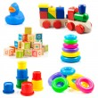 Stock Photo: Children toys. Toys collection isolated on white background