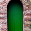 Stock Photo: Front Door of Beautiful Red Brick House