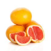 Grapefruits. grapefruit isolated on white background — Stock Photo