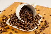 Coffee beans. coffee beans in a cup. — Stock Photo