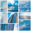 Abstract glass skyscraper. Glass wall of office buildings. moder - Stock Photo