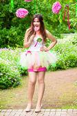 Summer girl portrait. beautiful girl. Sweet candy girl — Stock Photo