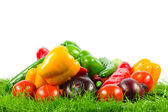 Fresh vegetable isolated on white background. Healthy Eating. S — Stock Photo