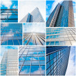 Abstract glass skyscraper. Glass wall of office buildings. moder — Stock Photo