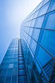Edificios de oficinas. siluetas de cristal moderna de rascacielos — Foto de Stock