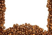 Frontera de café. marrón café aislado sobre fondo blanco. — Foto de Stock