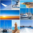 Summertime theme photo collage.  — Stock Photo