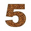 Number from coffee beans on white. 5 — Stock Photo #27855723