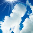 Clouds and clear blue sky. White clouds in blue sky — Stock Photo #27863461