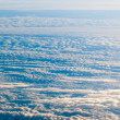 Clouds. Plane view from the window. — Stock Photo