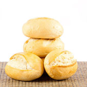 Bread on a white background. delicious buns isolated on white — Stock Photo