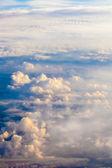 Sky a mraky. letadlo pohled z okna. — Stock fotografie