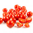 Cherry tomatoes.  fresh tomatoes on white background — Stock Photo