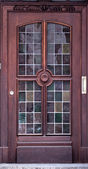 Wooden front door of a home. Old Wooden Door. — Stock Photo