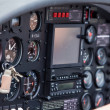 Control panel in a plane — Stock Photo