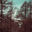 Matterhorn mountain of zermatt switzerland. Winter in swiss alps — Stock Photo #29470993