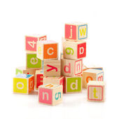 Alphabet cubes with letters — Stock Photo