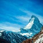 Matterhorn, Švýcarské Alpy — Stock fotografie