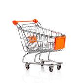 Shopping Cart Isolated on white. — Stock Photo