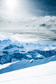 Winter landscape. winter mountains landscape. Beautiful winter — Stock Photo
